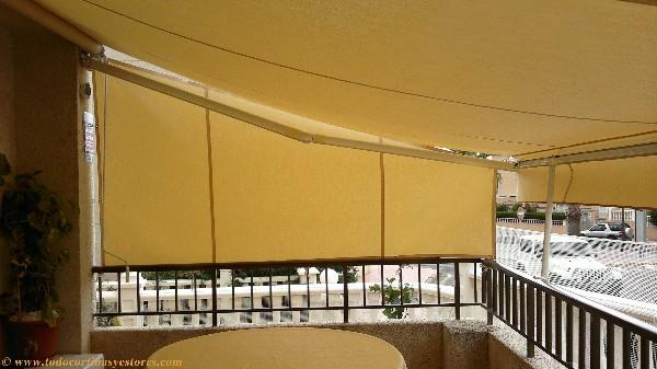 Toldo brazos extensibles o invisibles alicante for Como colocar un toldo de brazos invisibles